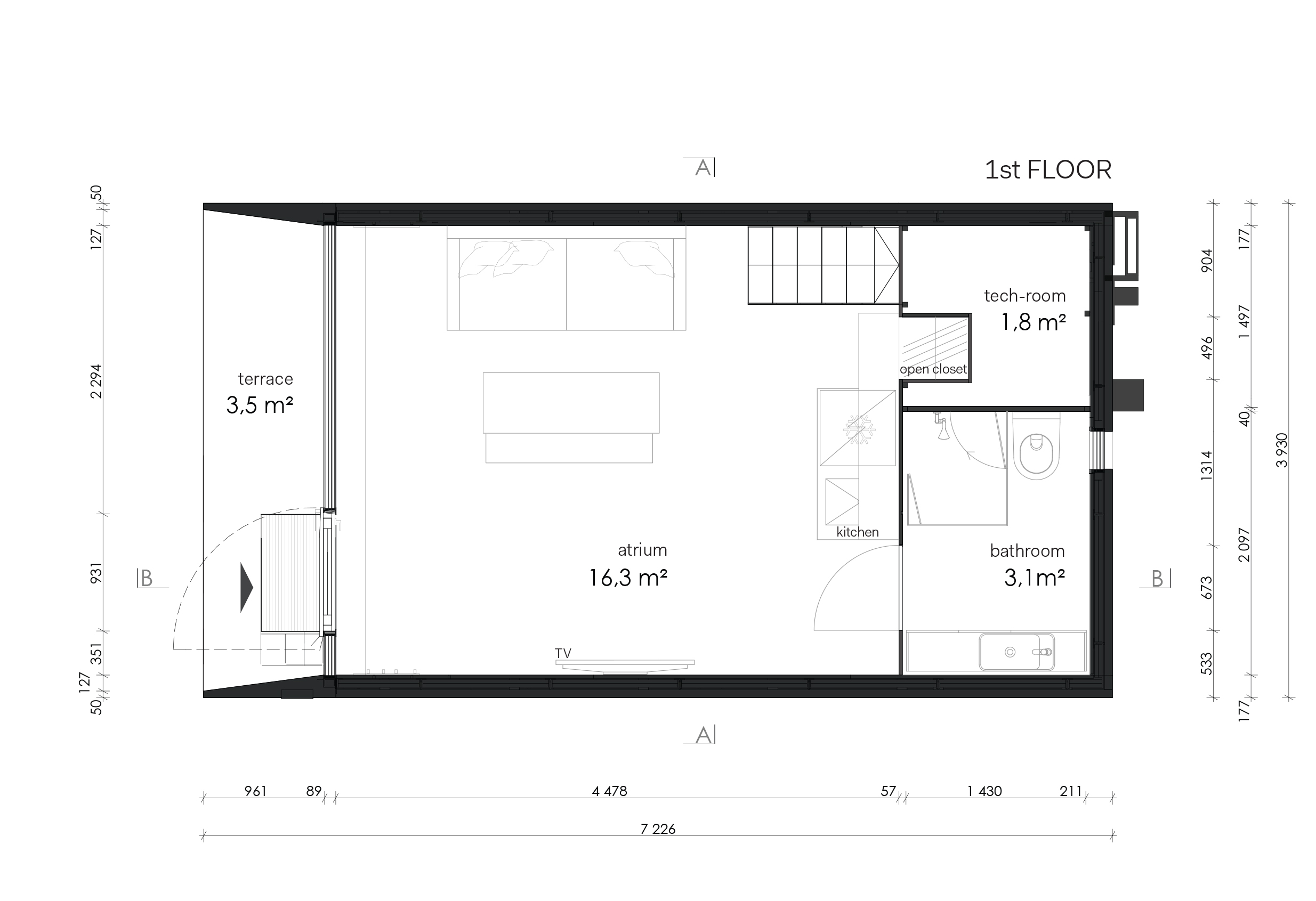 Plan maison 160 m2 elegant plan etage maison maison for Kodasema maison