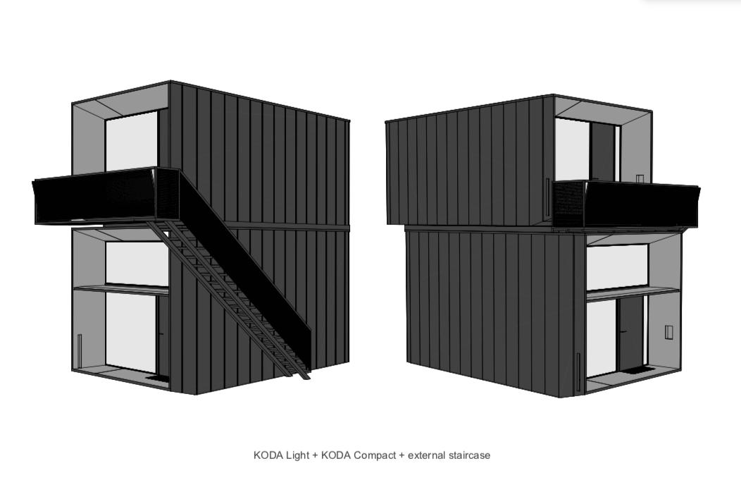 KODA Light and compact two storey