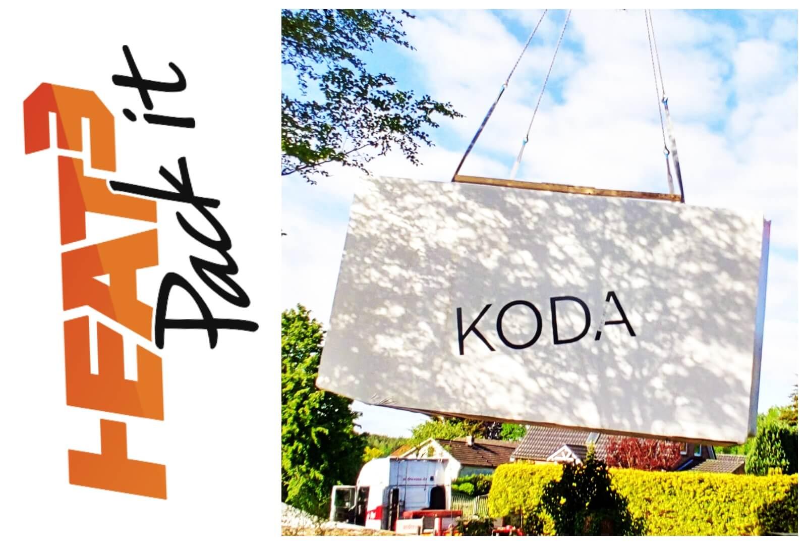 HEAT3 logo and a wrapped KODA